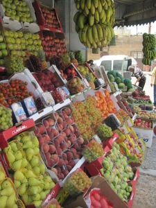 Fresh Produce Stand in Ramallah, Israel